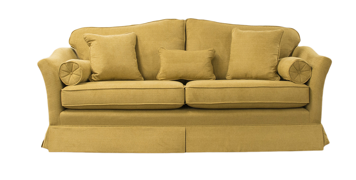 Othello Small Sofa in Warwick Pluch Taupe Platinum Fabric Collection
