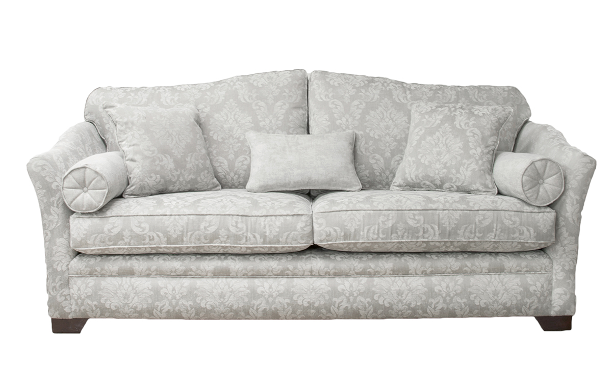 Othello 3 Seater Sofa in Dragano pattern chalk, Bronze Collection Fabric
