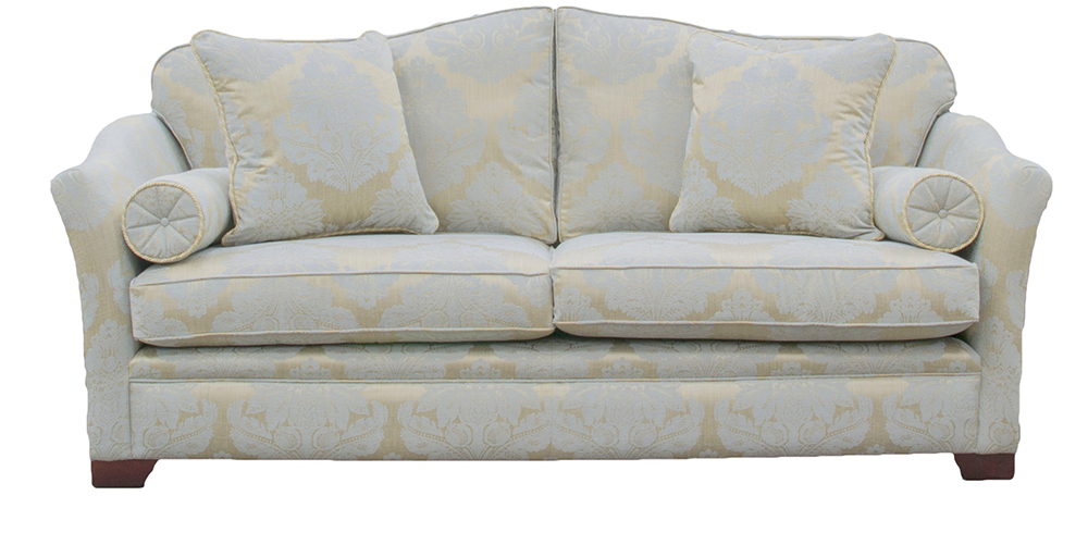 Othello Sofa  in Sofie Pattern Caspian Platinum Collection Fabric