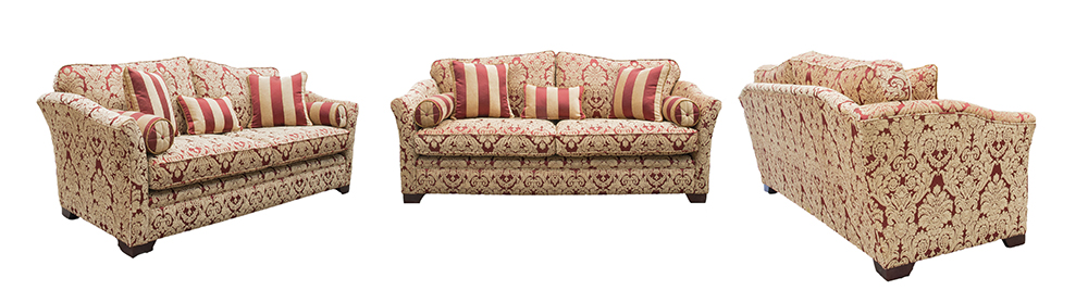 Othello sofa in Enjoy pattern Spice Platinum cOLLECTION