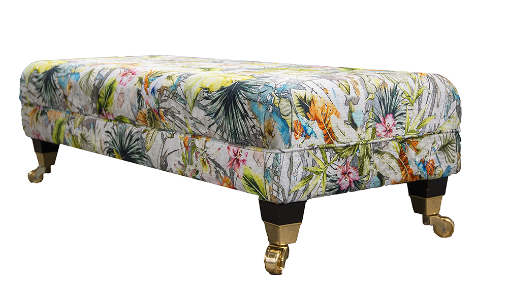 1_Ottolong-Footstool-side-in-Multi-Paradise-Platinum-Collection-of-Fabrics
