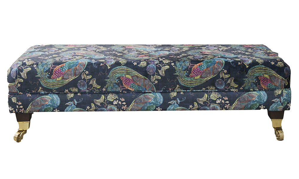 Ottolong in Peacock Navy, Platinum Collection Fabric