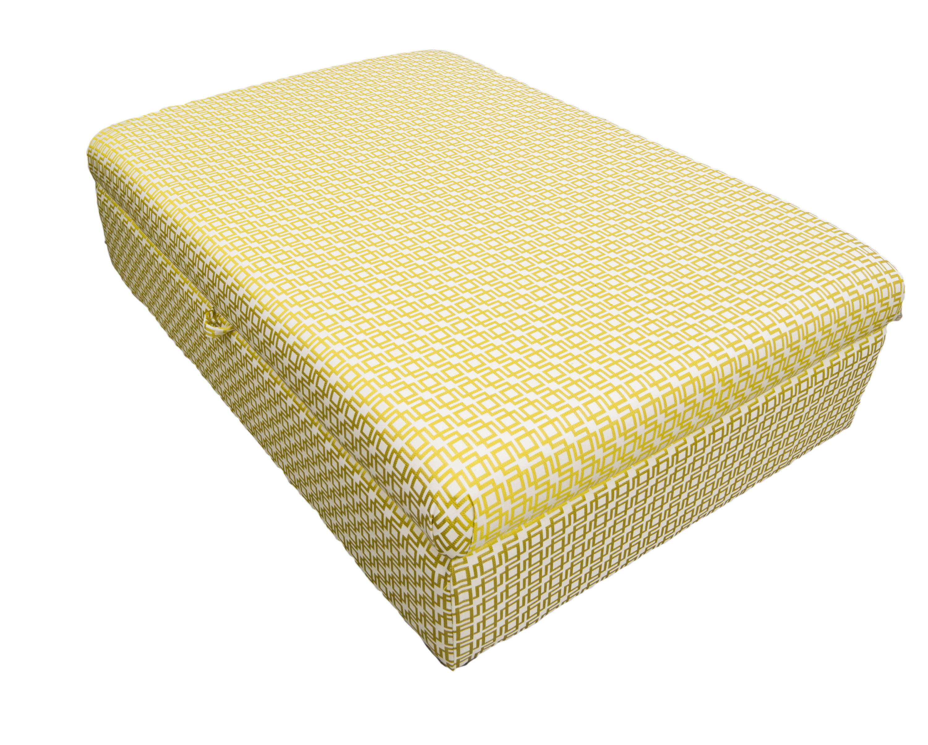 Storage Ottoman – COM – Romo Fabric (Available from Silverriver Interiors – Long Mile)
