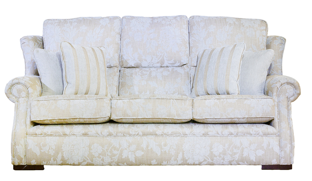 Palma 3 Seater Balamir Pattern Dove Silver Collection