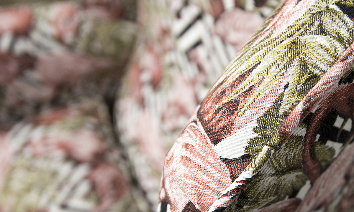 Queen-Anne-Chair-close-up-in-Flamingo-Brick-Gold-Collection-of-Fabrics