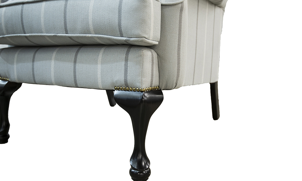 Queen-Anne-Chair-leg-in-Fontington-Stripe