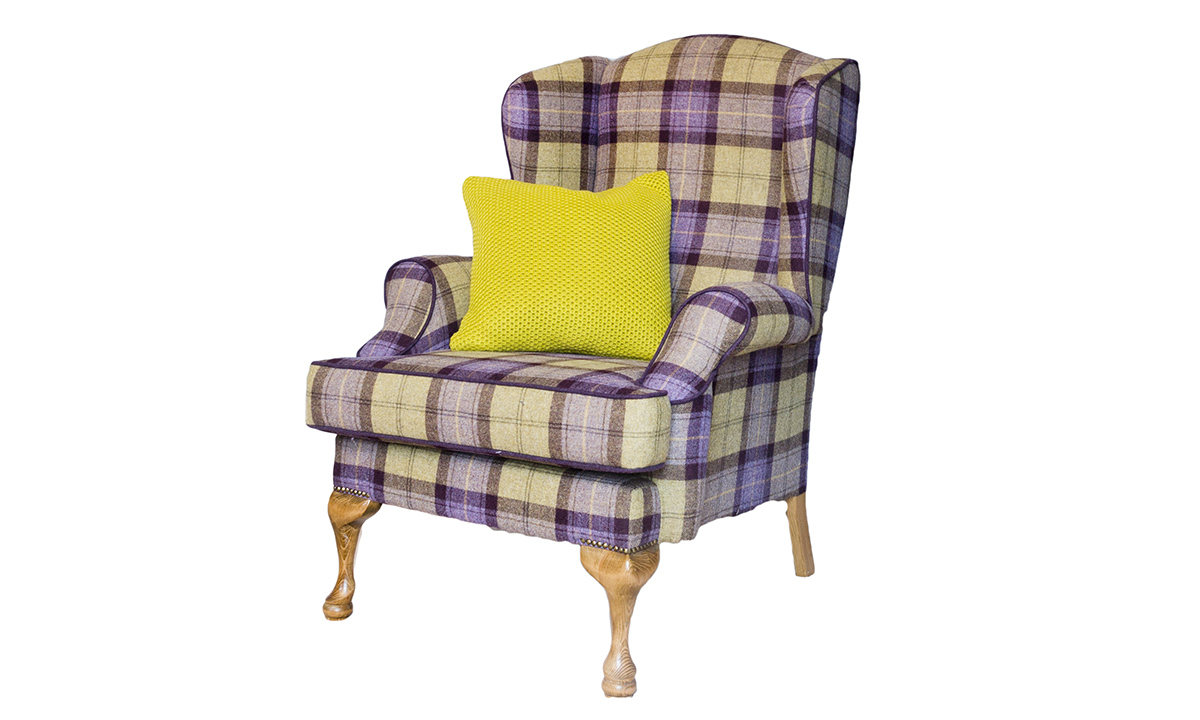 Queen Anne Chair in Art of Loom Wool