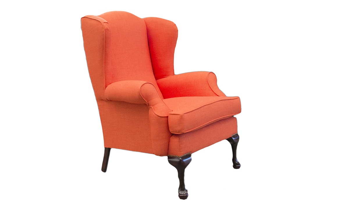 Queen Anne Chair in Fontington Turin TUR215 Orange