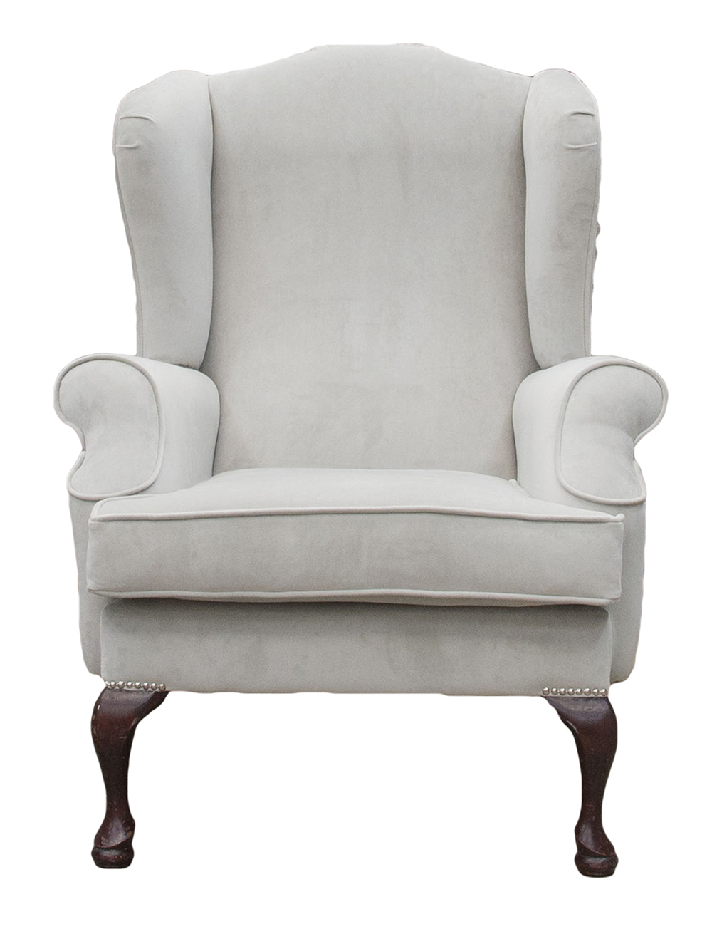Queen Anne Chair in Aosta Grey – Silver Collection