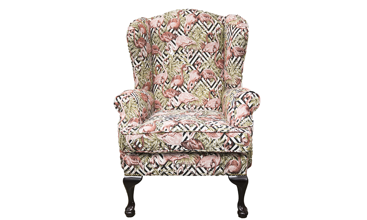 Queen-Anne-Chair-in-Flamingo-Brick-Gold-Collection-of-Fabrics