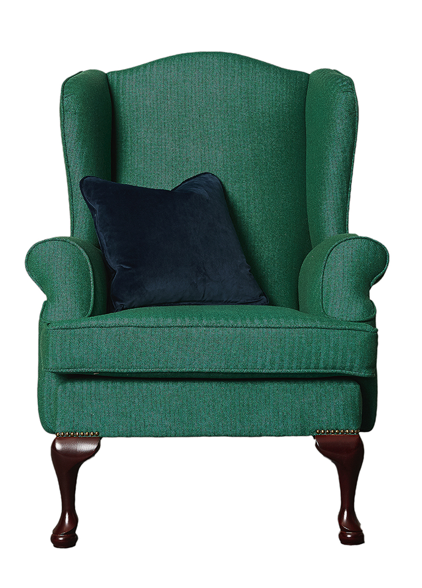 Queen Anne Chair in Foxford Platinum Collection Fabric