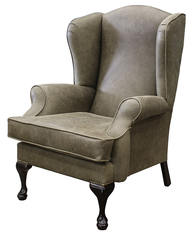 Queen Anne Chair COM Leather