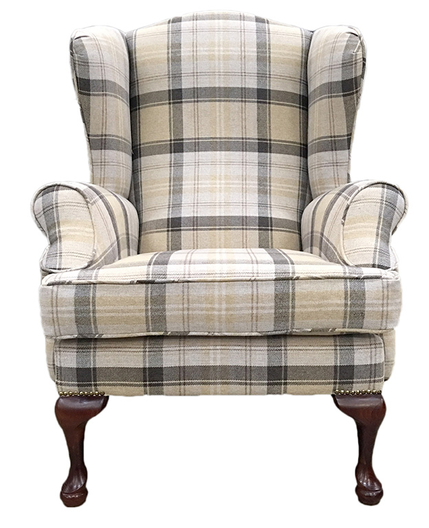 Queen Anne Aviemore Plaid Chocolate Silver Collection