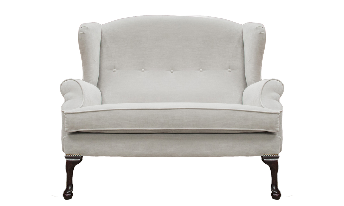 Queen Anne 2 Seater in Madison Velvet Alum
