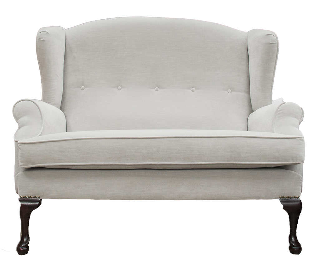 Queen Anne 2 Seater - Madison Velevt Alum