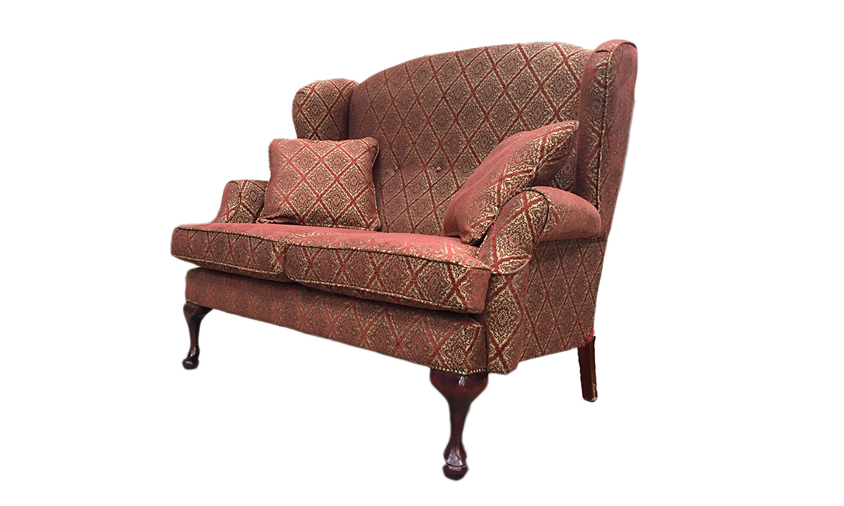 Queen Anne 2 Seater in Nebbiolo, Platinum Collection Fabric