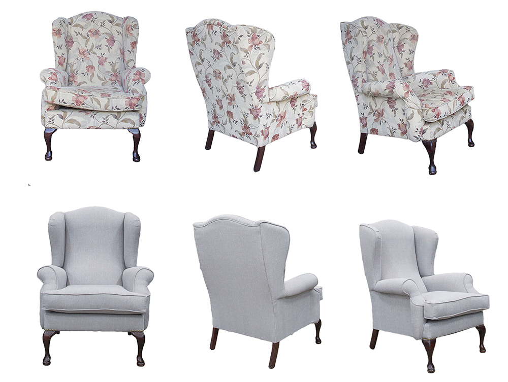 Queen Anne Chair Before & After