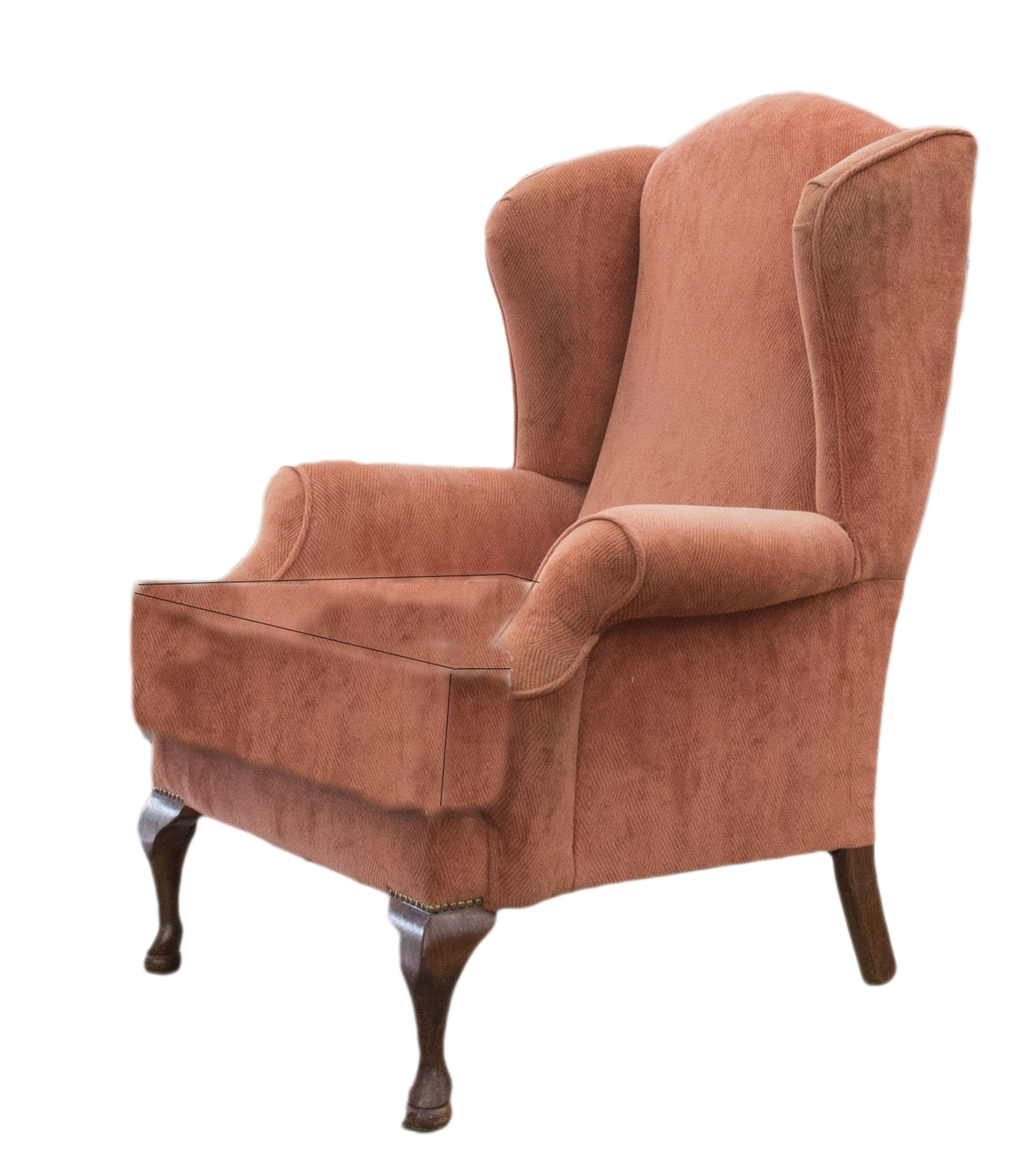 Queen Anne Chair Before side