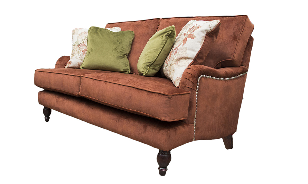 Sherlock Sofa in  Lovely Umber, Gold Collection Fabric