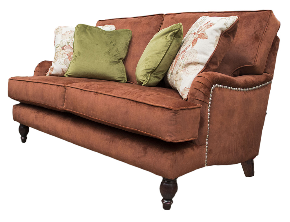 Sherlock Small Sofa in Lovely Umber Gold Collection Fabric