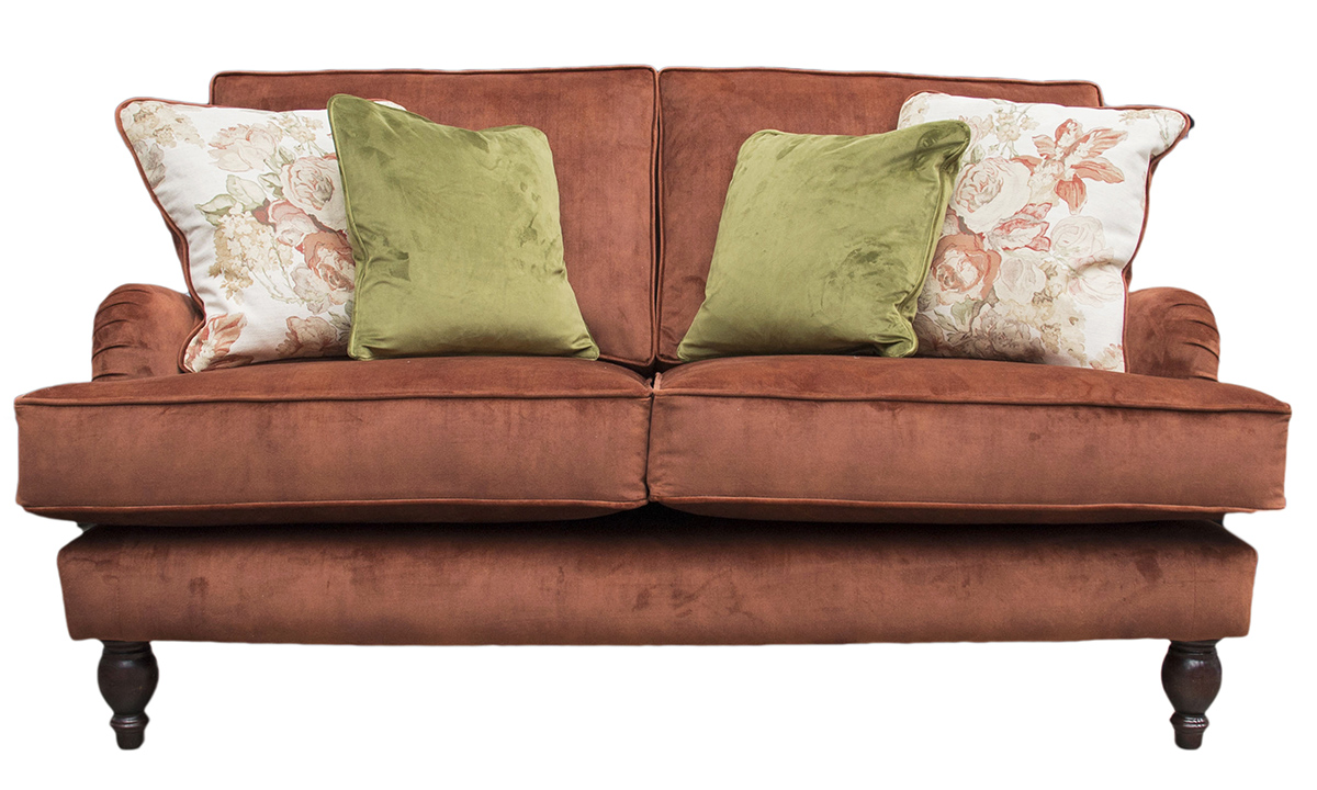 Sherlock Small Sofa in  Lovely Umber, Gold Collection Fabric
