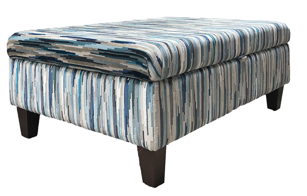 Storage Ottoman in Customers Own Fabric