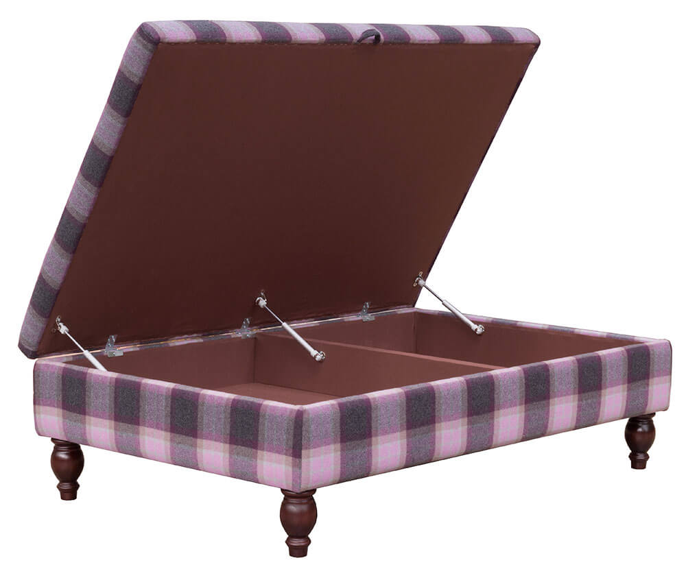 Ottoman Storage Footstool Country [Platinum Plus]