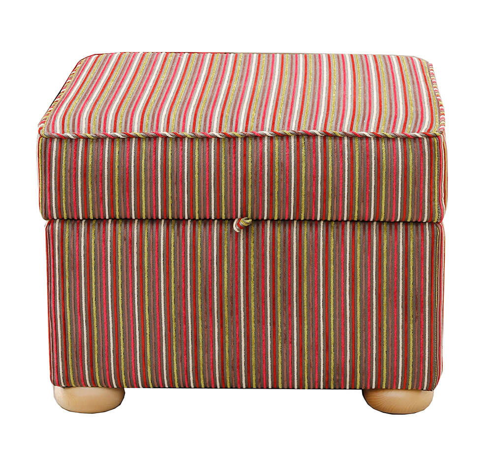 Storage Footstool Topaz [Silver Collection]