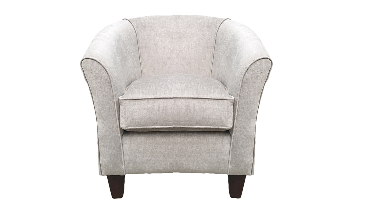 Tub Chair in Edinburgh French Grey,  - Back Panel in Customers Own Fabric