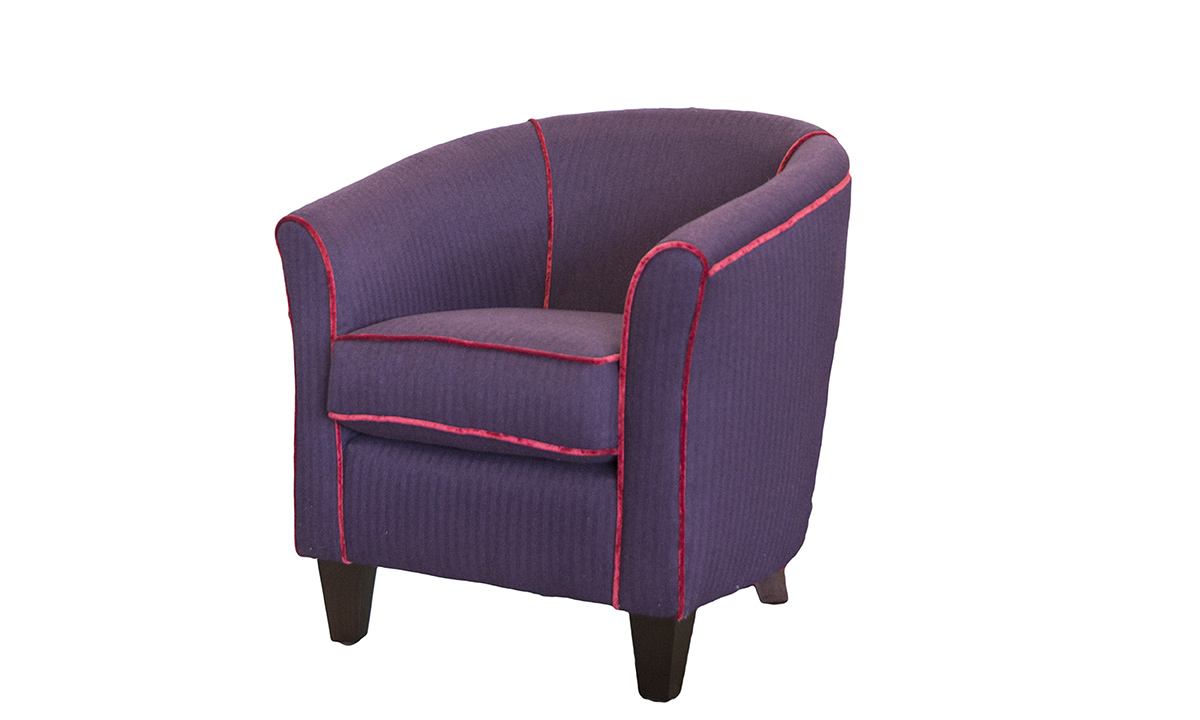 Tub Chair in JBrown Col6 Plum