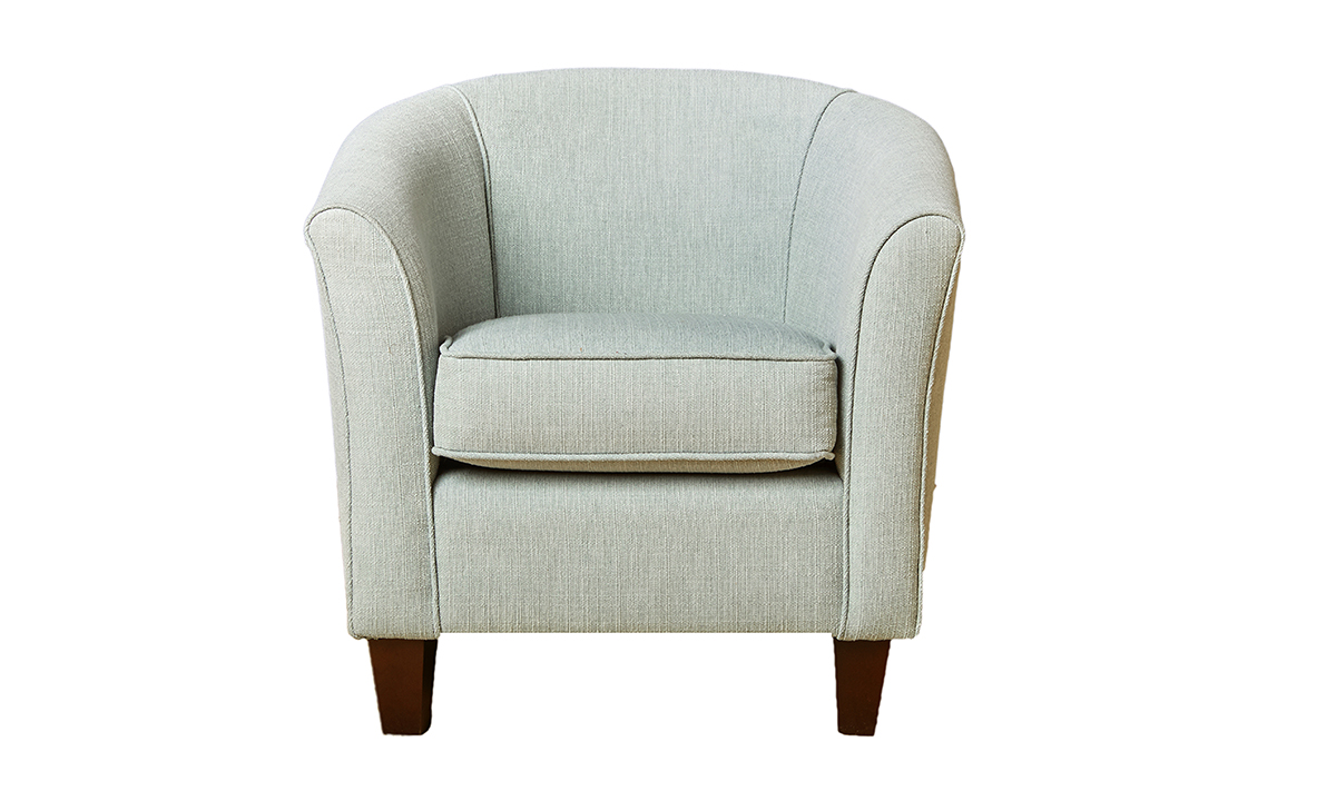 Tub Chair in Aosta Duck Egg Silver Collection Fabric