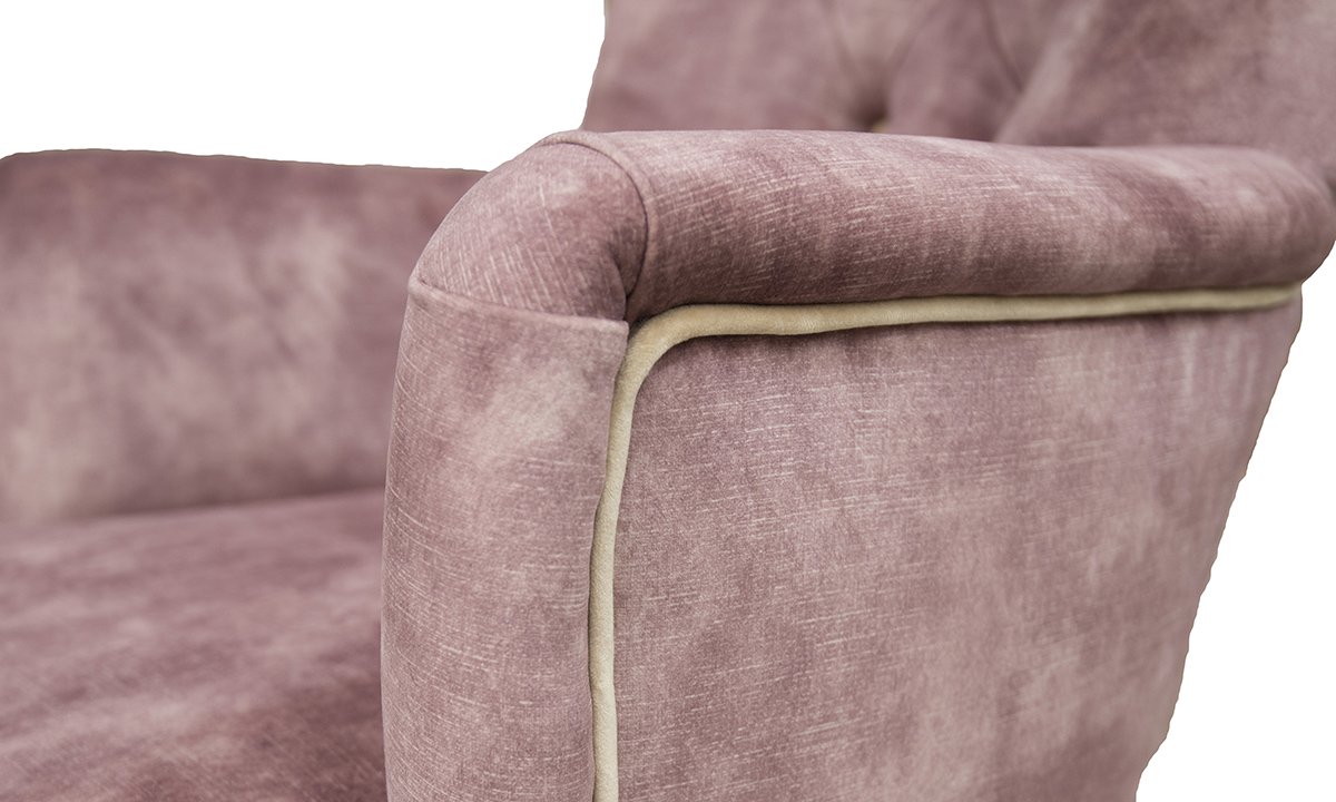 Aisling-Chair-detail-in-Lovely-Oxblood-Gold-Fabric-Collection