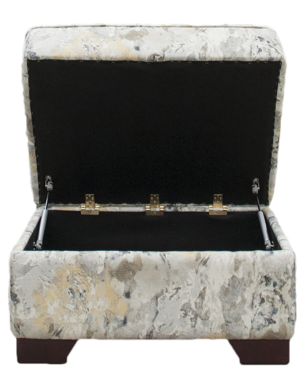 Imperial Storage Footstool  in Misc 18021 Bronze Collection Fabric