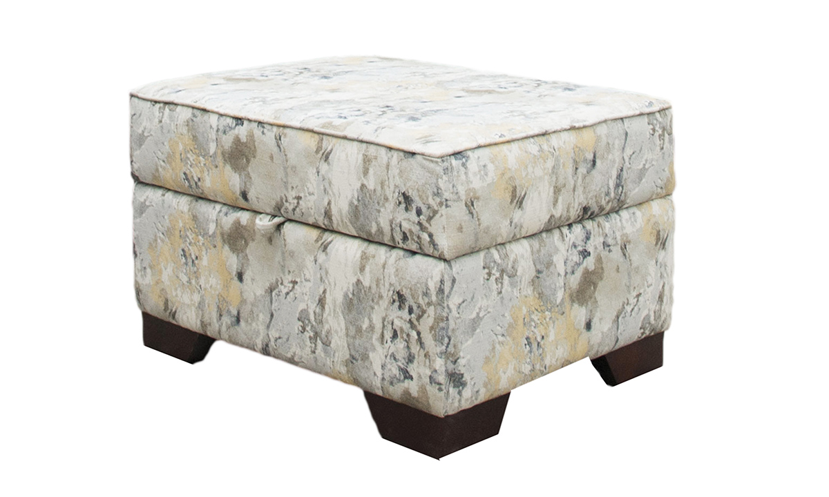 Imperial Storage Footstool in a Bronze Collection Fabric