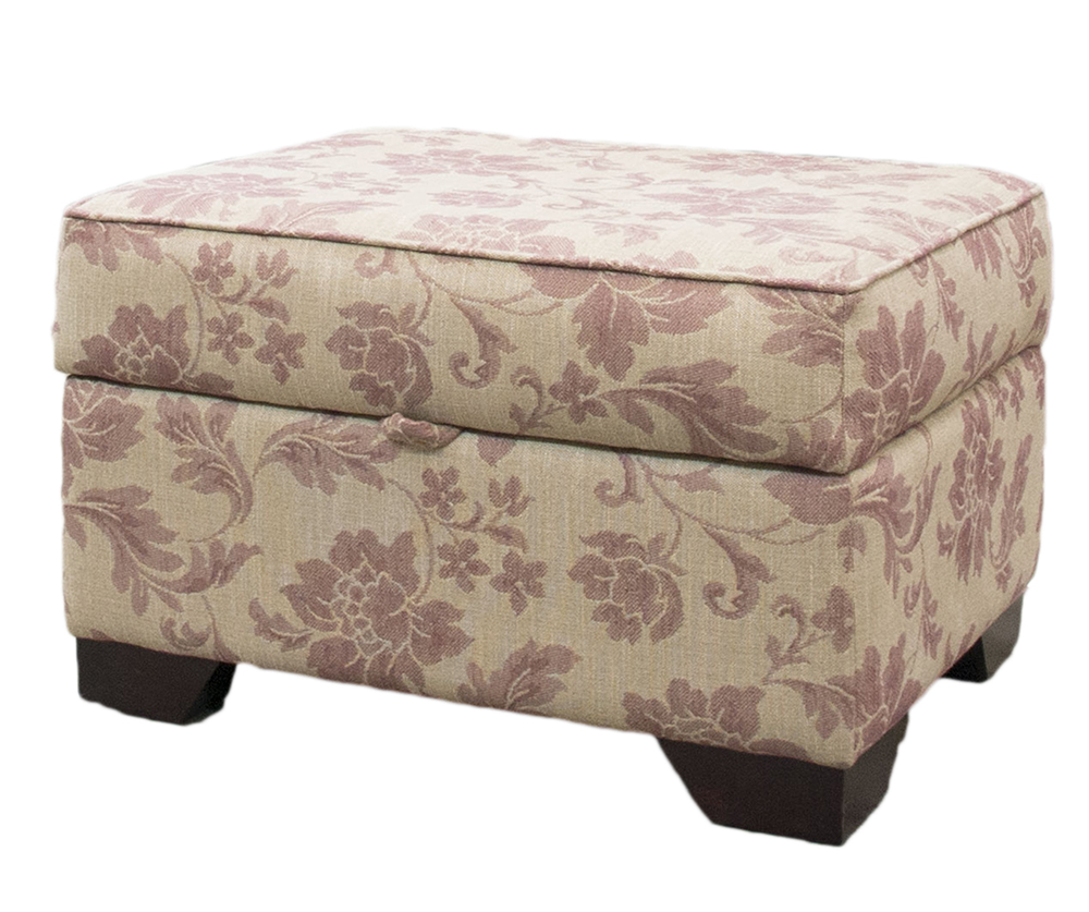 Imperial Storage Footstool in Socrates Pattern Discontinued Fabric