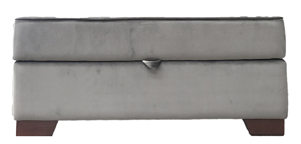 Othello Storage Island in Luxor Dolphin Silver Collection Fabric