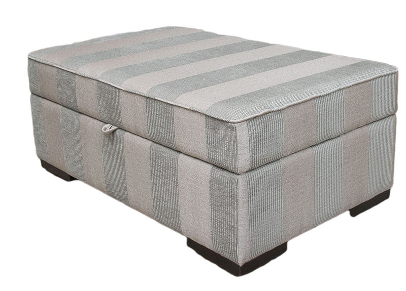 Imperial Storage Island in Nebbiolo Stripe Powder  Platinum Collection Fabric