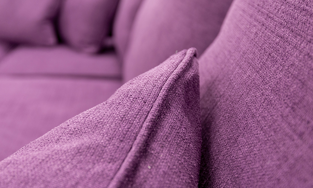 Scatter Cushion in JBrown Hendrix 702 Aubergine, Silver Collection Fabric