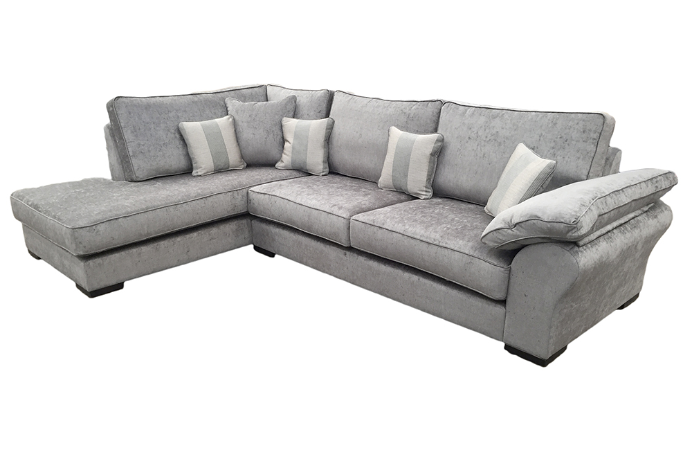 Atlas 3 Seater Corner Chaise Sofa from  Silver Fabric Collection