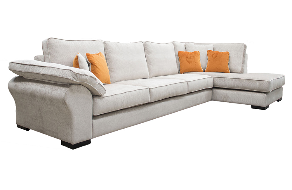 Bespoke Size Atlas Corner Chaise Sofa in a Discontinued Fabric