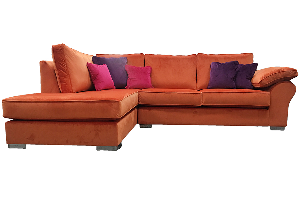 Atlas 3 Seater Corner Chaise Sofa in Discontinued Fabric