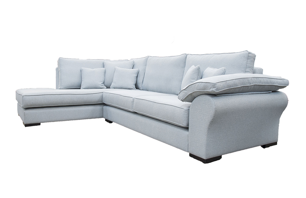 Atlas  Chaise Sofa in Ross Mopsack Cloud SR13631, Silver Fabric Collection