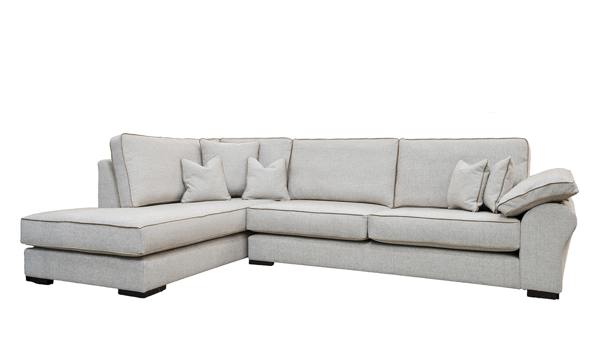 Atlas Chaise Sofa in Orca Plain ow258, Silver Collection Fabric