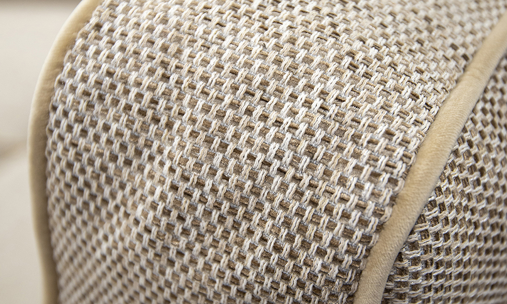 Back cushion detail in Bravo Sand, Silver Collection of Fabric