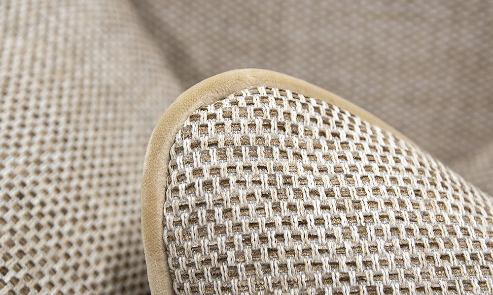 Cushion Detail in Bravo Sand, Silver Collection of Fabric