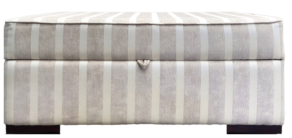 Atlas Storage Island  in Reflex Stripe Chiffon Silver Collection Fabric