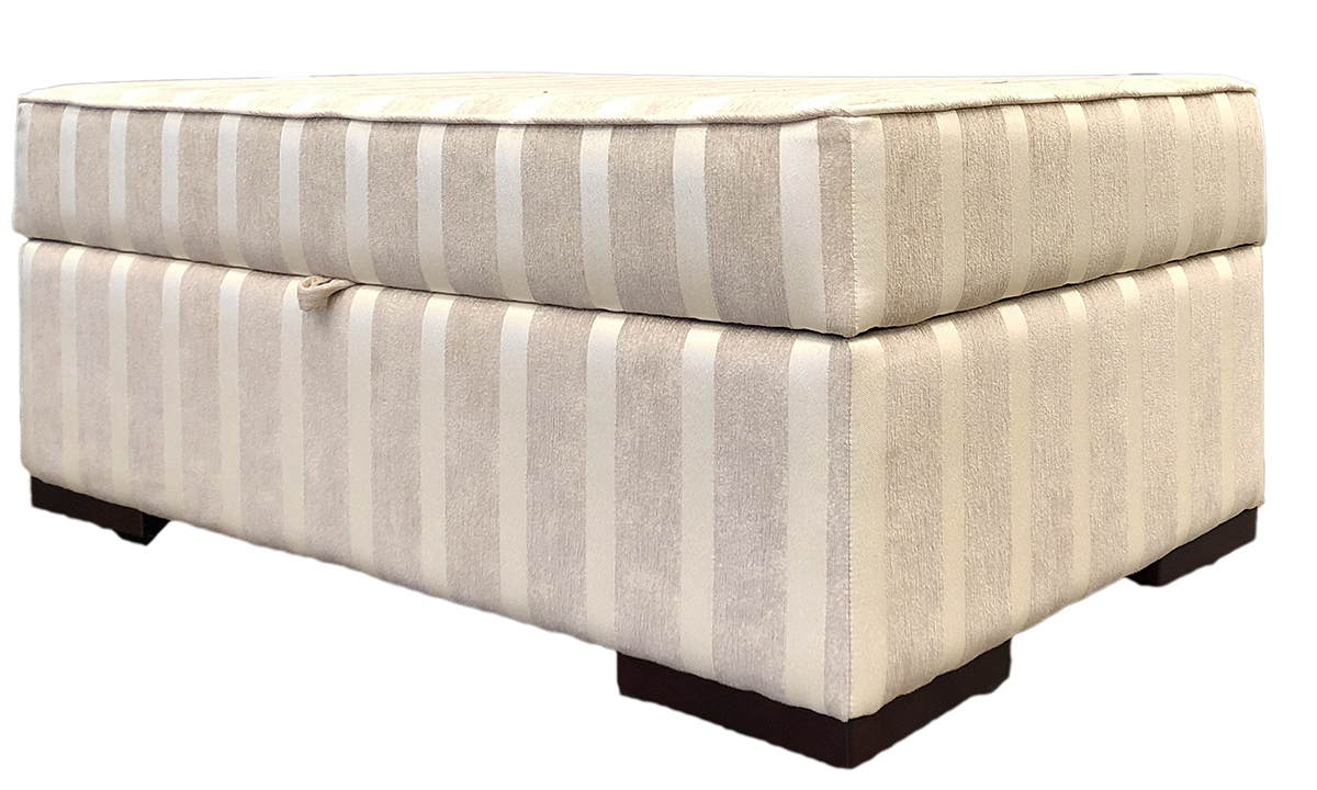Atlas Storage Island in Reflex Stripe Chiffon, Silver Collection Fabric