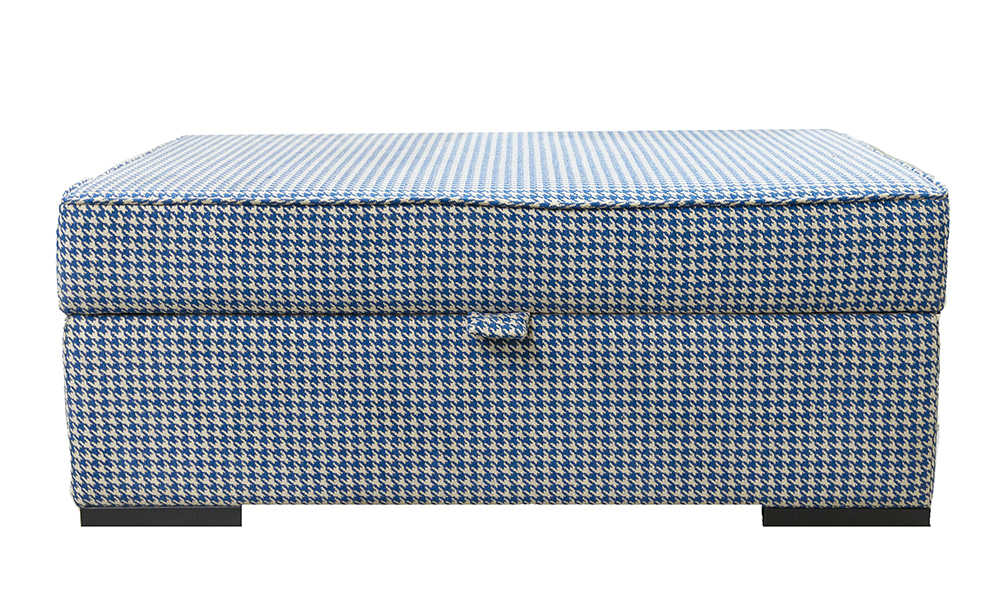 Atlas Storage Island in Poppy Navy, Silver Collection Fabric