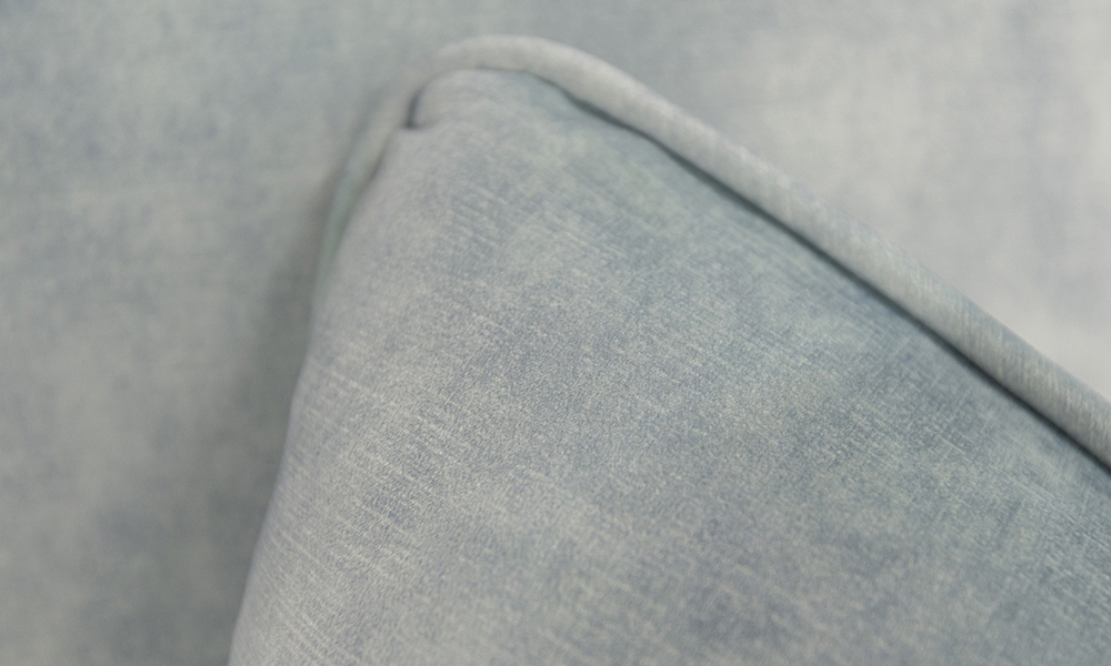 Baltimore Scatter Cushion in Plush Airforce Silver Collection Fabric