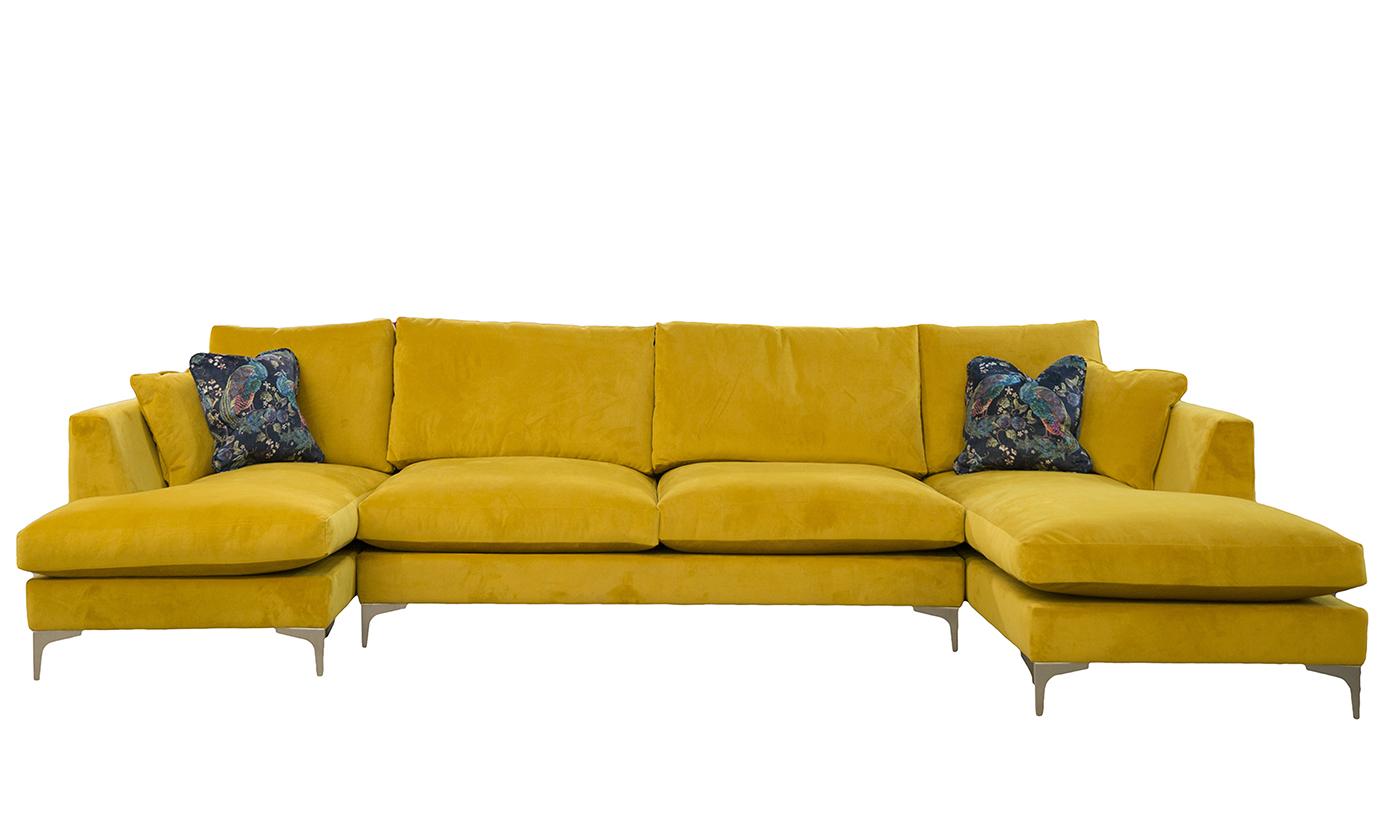 Baltimore Bespoke Size lounger, in Plush Turmeric Gold Collection Fabric